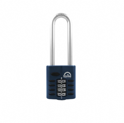 Squire CP40/2.5 Combination Padlock 4 Wheel 40mm Extra Long Shackle 63mm